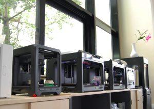 3D Drucker von MakerBot im Demoraum 3D