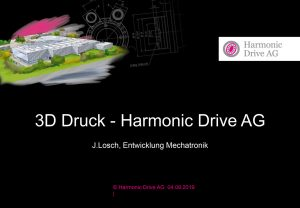 Präsentation Harmonic Drive Johannes Losch additiva 2019